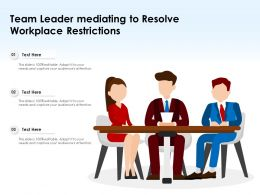 Team Leader Mediating To Resolve Workplace Restrictions