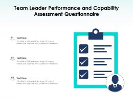 Team Leader Performance And Capability Assessment Questionnaire