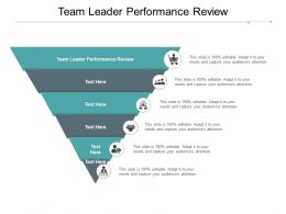 Team Leader Performance Review Ppt Powerpoint Presentation Professional Good Cpb