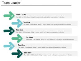 Team Leader Ppt Powerpoint Presentation Ideas Graphics Download Cpb
