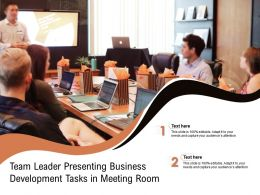 Team Leader Presenting Business Development Tasks In Meeting Room