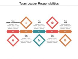Team Leader Responsibilities Ppt Powerpoint Presentation Inspiration Layout Ideas Cpb