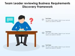 Team Leader Reviewing Business Requirements Discovery Framework