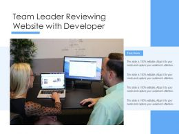 Team Leader Reviewing Website With Developer