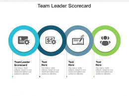 Team Leader Scorecard Ppt Powerpoint Presentation File Images Cpb