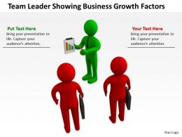 Team Leader Showing Business Growth Factors Ppt Graphics Icons Powerpoint