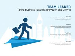 Team Leader Taking Business Towards Innovation And Growth Infographic Template