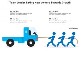 Team Leader Taking New Venture Towards Growth Infographic Template