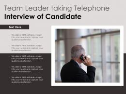 Team Leader Taking Telephone Interview Of Candidate