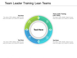 Team Leader Training Lean Teams Ppt Powerpoint Presentation Structure Cpb