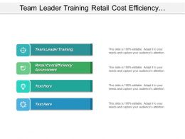 Team Leader Training Retail Cost Efficiency Assessment Mergers Acquisitions Cpb