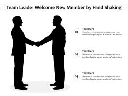 Team Leader Welcome New Member By Hand Shaking