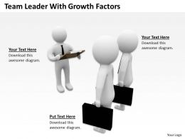 Team Leader With Growth Factors Ppt Graphics Icons Powerpoint