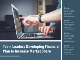 Team Leaders Developing Financial Plan To Increase Market Share