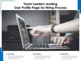 Team Leaders Reading User Profile Page For Hiring Process
