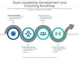 Team Leadership Development And Coaching Roadmap