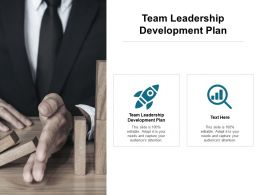 Team Leadership Development Plan Ppt Powerpoint Presentation Inspiration Outline Cpb