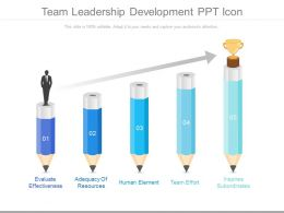 Team Leadership Development Ppt Icon