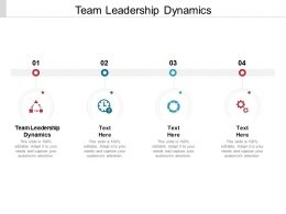 Team Leadership Dynamics Ppt Powerpoint Presentation Model Topics Cpb