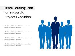 Team Leading Icon For Successful Project Execution