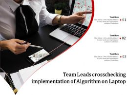 Team Leads Crosschecking Implementation Of Algorithm On Laptop