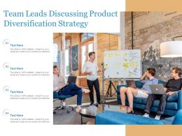 Team Leads Discussing Product Diversification Strategy