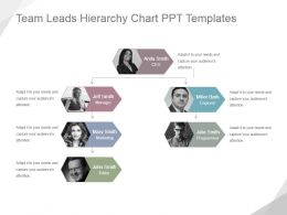 Team Leads Hierarchy Chart Ppt Templates