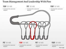 Team Management And Leadership With Pins Powerpoint Template