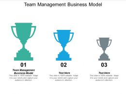 Team Management Business Model Ppt Powerpoint Presentation Layouts Slide Portrait Cpb
