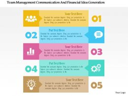 Team Management Communication And Financial Idea Generation Flat Powerpoint Design