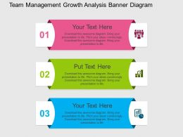 Team Management Growth Analysis Banner Diagram Flat Powerpoint Design