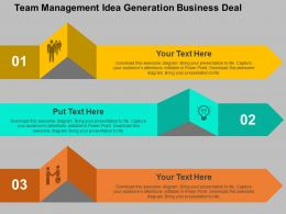 Team Management Idea Generation Business Deal Flat Powerpoint Design