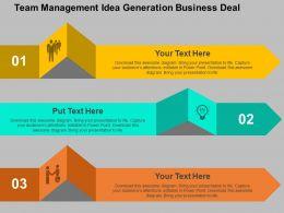team_management_idea_generation_business_deal_flat_powerpoint_design_Slide01