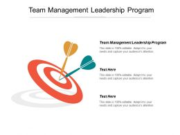 Team Management Leadership Program Ppt Powerpoint Presentation Gallery Rules Cpb