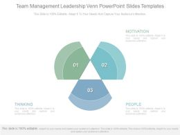 Team Management Leadership Venn Powerpoint Slides Templates