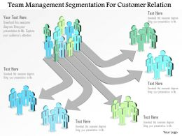 Team Management Segmentation For Customer Relation Powerpoint Template