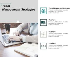 Team Management Strategies Ppt Powerpoint Presentation Professional Designs Download Cpb