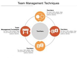 Team Management Techniques Ppt Powerpoint Presentation Gallery Format Cpb