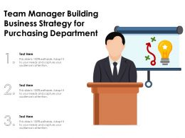 Team Manager Building Business Strategy For Purchasing Department