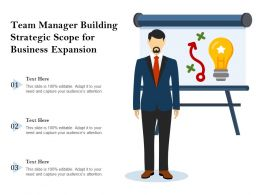 Team Manager Building Strategic Scope For Business Expansion