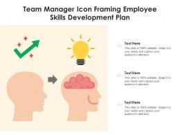 Team Manager Icon Framing Employee Skills Development Plan