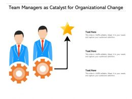 Team Managers As Catalyst For Organizational Change