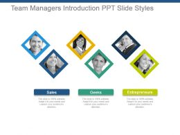Team Managers Introduction Ppt Slide Styles