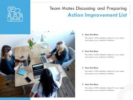 Team Mates Discussing And Preparing Action Improvement List