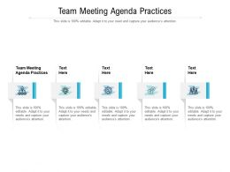 Team Meeting Agenda Practices Ppt Powerpoint Presentation Pictures Grid Cpb