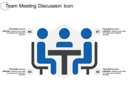 Team Meeting Discussion Icon