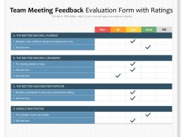 Team Meeting Feedback Evaluation Form With Ratings