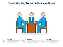 Team Meeting Focus On Business Goals