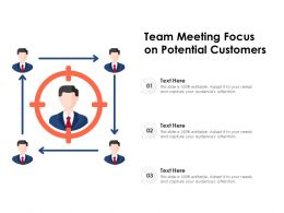 Team Meeting Focus On Potential Customers