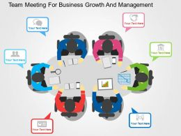 Team Meeting For Business Growth And Management Flat Powerpoint Design